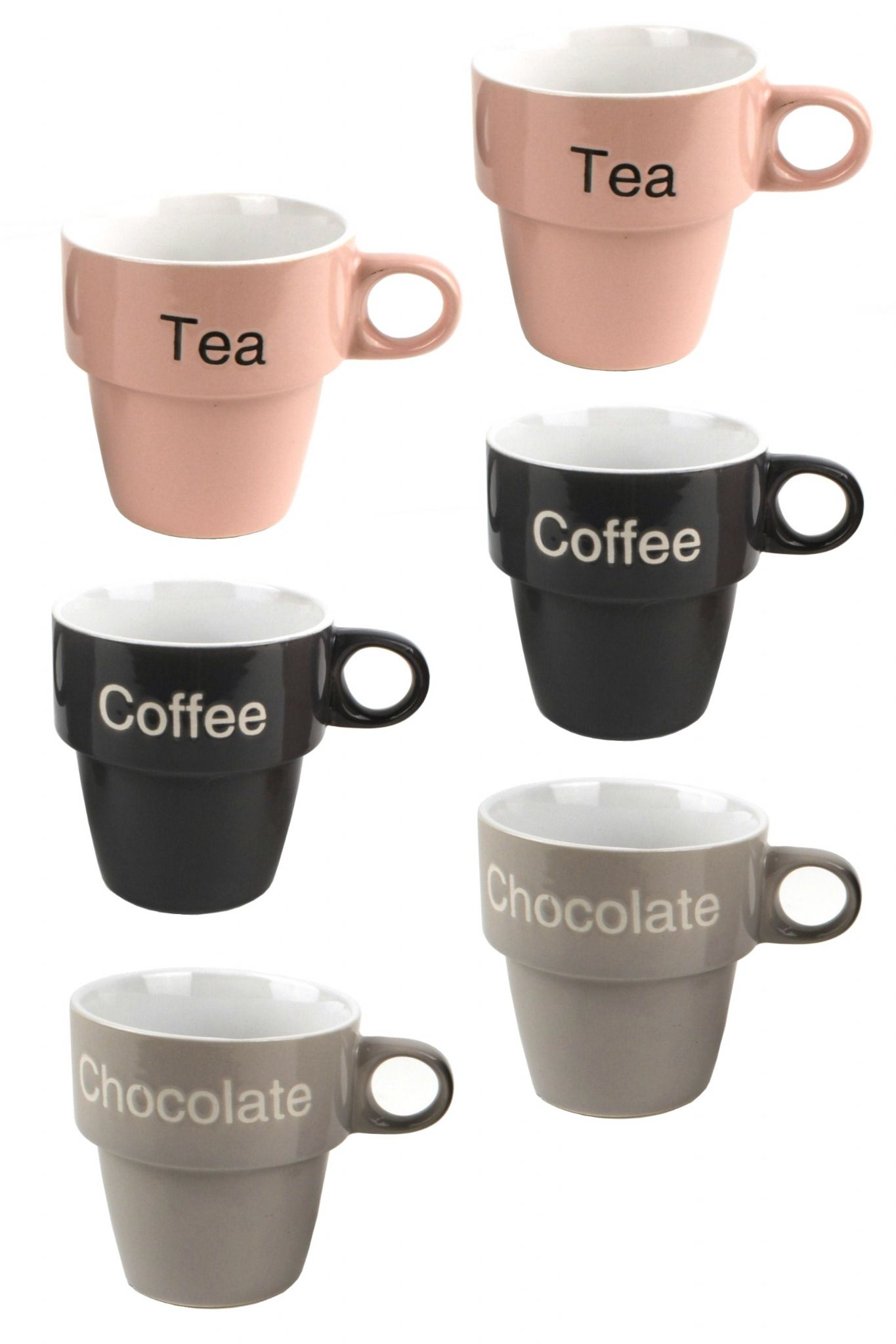 Tea Coffee Or Chocolate Cup Set Stackable Coffee Mug Tower